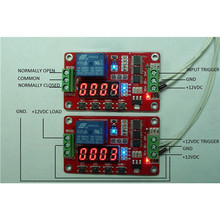 High Quality Newest 12V DC Multifunction Self-lock Relay PLC Cycle Timer Module Delay Time Switch(China)