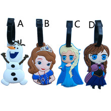 New Lovely Aisha Anna Luggage Tag Name Address Identification Card Boarding Luggage Label PVC Baggage Tags Travel Accessories(China)