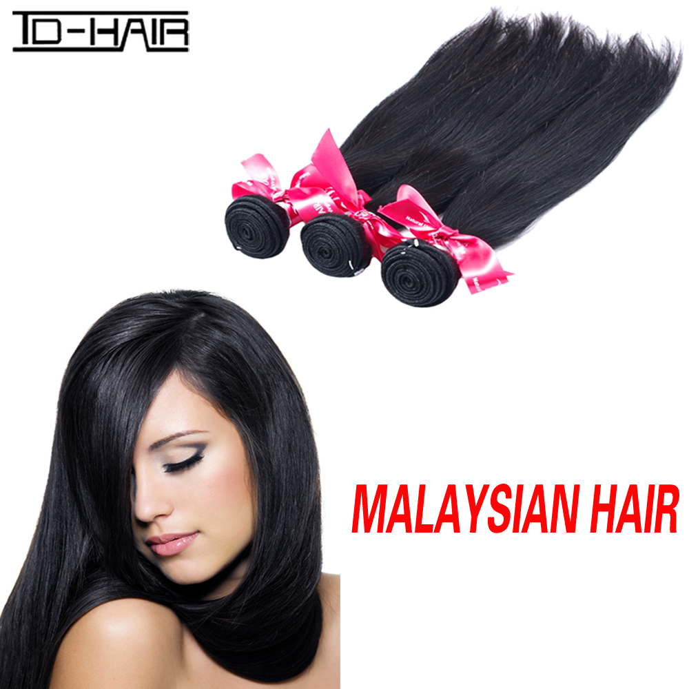 TD HAIR Malaysian Straight Virgin Hair 3 Bundles 100% Unprocessed 8A Malaysian Human Virgin Straight Hair Weaving Extension<br><br>Aliexpress