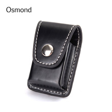 1pcs Men Cigarette Lighter Holder Bag Small Box Case Leather Cover Windproof Small Purse Male Clutch Portable Bag Accessories