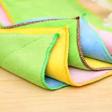 1pc Dish Towel Microfibre Cleaning Soft Cloth Washing Cloth Towel Duster Absorbent Wash Cloth Car Care duster cloth(China)