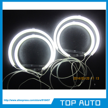 6000K White Halo Rings Headlamp CCFL Angel Eyes Kit For BMW E53/X5 1999-2004 with 4Xccfl halo rings and 2 ccfl inverter(China)