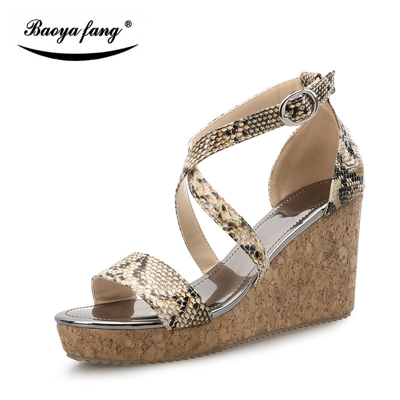 BaoYaFang New Arrial Summer sandals womens fashion shoes High heels woman Summer female sandals free shipping<br>