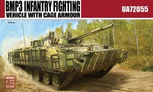 ModelCollect UA72055 1/72 Scale BMP3 INFANTRY FIGHTING VEHICLE WITH CAGE ARMO Plastic Model Building Kit