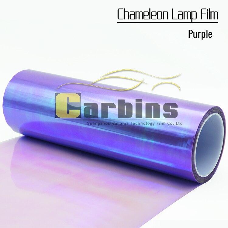 One roll purple chameleon car headlight PVC vinyl wrap film , lamp color tuning sticker for car fog light taillight<br>