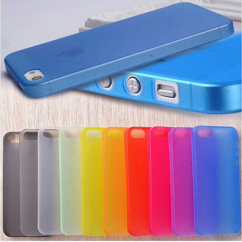 New Slim Ultra Thin Colorful Translucent Clear Back Cover phone Case For iphone 4 4S 5 5S SE 5C 6 6S 7 8 Plus X XR XS Max Case(China)