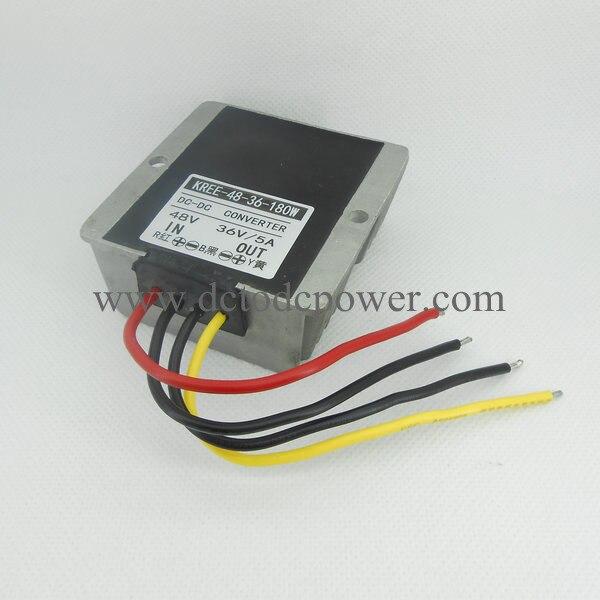 KREE-48v switch 36v converter turn 36V5A8A 48V DC-DC power converter buck full power<br>