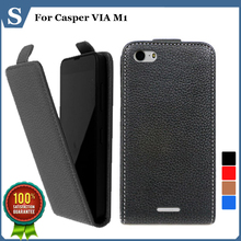 Factory price , Top quality new style flip PU leather case open up and down for Casper VIA M1 , gift