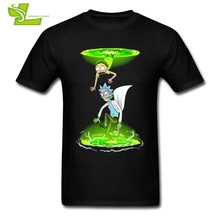 Rick And Morty Portals Male T Shirt Home Wear Loose T-Shirt Men Summer 100% Cotton Tshirt Teenboys Newest Simple Clothes(China)