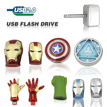 Free Shipping Captain America Iron Man The Hulk Thor8GB 32GB 64GB U Disk Pen drive USB usb Flash Drive memory stick