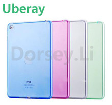 7.9'' Mini4 Transparant Slim Thin Cover for Apple i Pad Mini 4 Case Soft Silicone Gel Crystal Clear Back Funda Cases(China)
