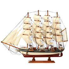 DIY Handmade Assembly Ship Craft Wooden Sailing Boat Wood Sailboat Model Home Decor Toy Model Building Kits For Children Boy