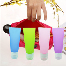 38ML/80ML Cute Storage Bottles Mini Travel Silicone Packing Bottle Lotion Shampoo Tube Container Refillable Bottles QB674579