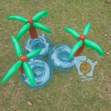 Inflatable Pool Drink Holders Palm Tree Can Holder Float Beach Water Fun Toy 15pcs Per Lot Boia Piscina