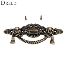 DRELD 1Pc Antique Furniture Handle Cabinets Knobs and Handles Door Drawer Cupboard Handle Kitchen Handle Pull Furniture Fittings(China)