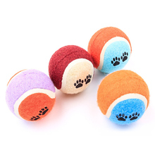 5PCS/Lot Pet Puppy Chew Toy Ball Pets Toys Double Color Throw Tennis Small Dog Training Toys Diameter 6CM Outdoor Products