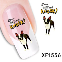 2017 New Arrival Nails 2 Sheet Manufacturers Accusing Xf Water Dog Domestic And Smooth Nail Stickers Atmospheric Models Xf1556
