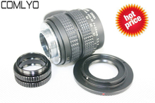 35mm f/1.7 CCTV Lens for Sony NEX Samsung NX Fujifilm X-E1 Nikon 1 + C Mount FOR Nikon 1 adapter +2 Macro Rings+Front Rear Caps
