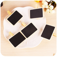 6PCS/LOT New Fashion Cute Special Gift wooden clip Wooden Blackboard Clip Paper Clip board Clips Holder for Decoration Photo