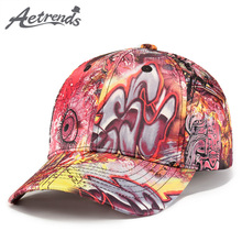 [AETRENDS] 2018 New England Graffiti Style Baseball Cap Men Women Outdoor Sport Snapbacks Bone Hat Z-6252()