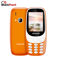 Original VKworld Z3310 Russian Keyboard Elder Mobile Phone 2.4 inch 1450mAh Battery Big Speaker 2.0MP FM Mini Cellphone(China)