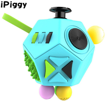Mini Fidget Cube Keychain Squeeze Fun Stress Reliever 12 Sides Fidget Cube Children Desk Toy Xmas Birthday Gift(China)