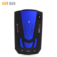 Auto 360 Degrees  V7 Car Anti Radar Detector LED Display Vehicle Speed Voice Alert Warning Detector Blue & Red