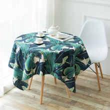 retro europe jacquard waterproof green round  tablecloth 180 cm wholesale fabric tablecloths elegant wedding chair covers
