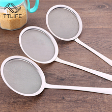 TTLIFE 2016 Practical new Mesh Strainers Stainless Steel Colander Cooking Tools Soup Skimmer Scoop Colander Kitchen Accessories