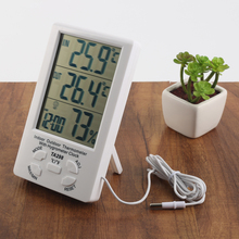 Digital Barometer Thermometer hygrometer Temperature Humidity Meter Clock time Dual temperature display function
