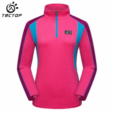 TECTOP  Women T Shirt Long Sleeve Quick Dry Outdoor T Shirts Women Breathable Hiking Camping Female Coolmax T shirts