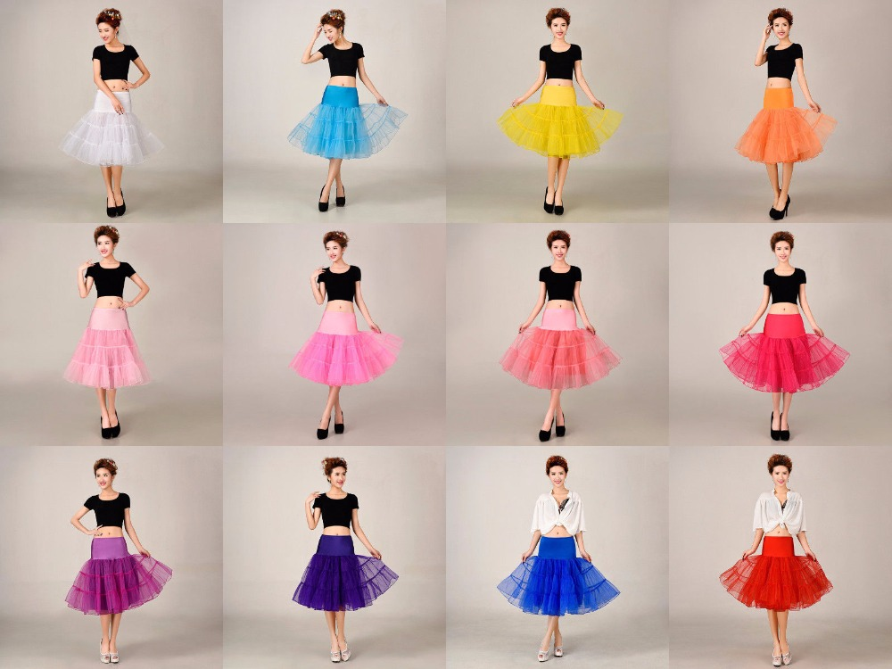 2018 free Shipping Short Tutu Petticoat Crinoline Vintage Wedding Bridal Petticoat For Wedding Dresses Underskirt Rockabilly