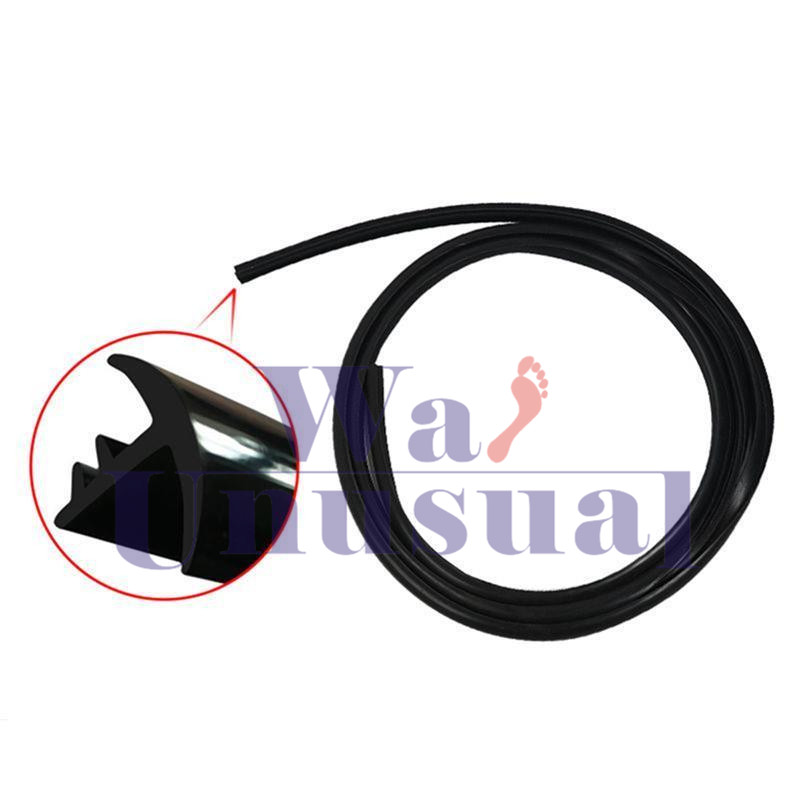Rubber 1.6m Soundproof Dustproof Sealing Strip for Auto Car Dashboard Windshield 2