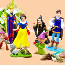 Free shipping 1 Set Retail (8 pcs/set ) Princess Snow white and the Seven Dwarfs Queen Prince Action Figure Play Toys set
