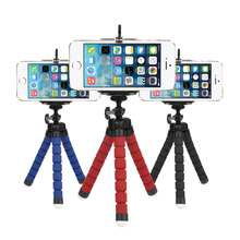Flexible Octopus Tripod For Phone With Phone Clip Tripod for iPhone 6 7 6s 5s huawei Dslr Gopro Yi 4K SJCAM Camera Stand Mount(China)