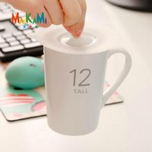 Anti-dust Silicone Glass Cup Cover Coffee Mug Suction Seal Lid Cap Silicone Airtight Love Spoon Novelty