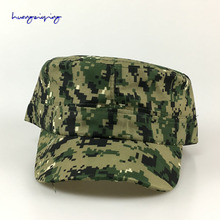 Soldier flat-top hat field fight camouflage hat student summer camp cap outdoor leisure sun hat jungle baseball cap