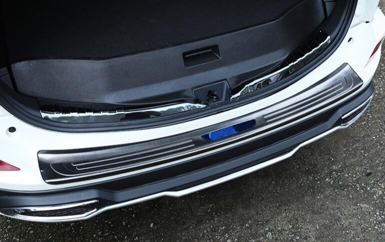 For 2017 2018 Infiniti QX30 Stainless steel Rear Bumper Protector Cover Trim