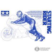 OrangeHobby Tamiya 14124 1/12 Starting Rider for Scale Assembly Motorcycle Model Building Kits