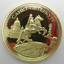 Ukraine Gold Coins Emperor Peter Bronze Knight Russian Coins Ukraine Commemorative Coin(China)