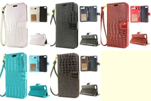 Croco Crocodile Wallet PU Leather Case Cover For iphone 5 5S SE 5C 6 6S Plus 7 7 Plus 8 8 Plus with Stand & Card Holder(China)