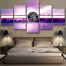 Unframed Oil Painting Toronto Raptors Sports Style Picture Printed On Canvas cuadros lienzos decorativos Novel Design Wall Decar