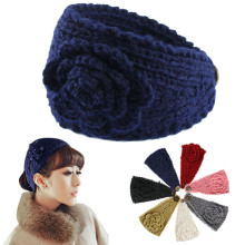 MUQGEW Fashion Women Crochet Headband Knit Hairband Flower Winter Ear Warmer Head wrap drop shipping(China)