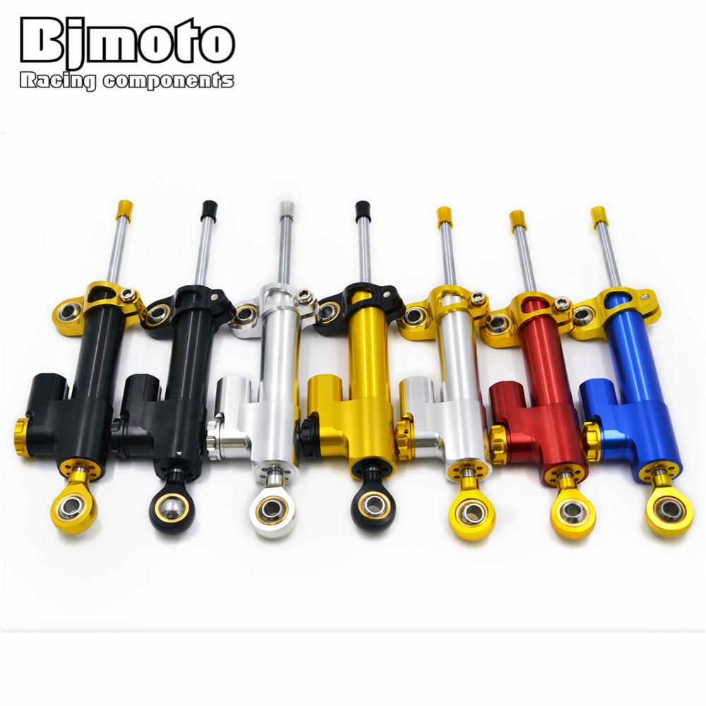 BJMOTO CNC Damper Steering Stabilizer Linear Reversed Safety Control For Honda CBR 600 F Hornet CB600F CB650F GROM MSX 125 <br>