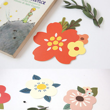 16pcs/lot creative flower blessing greeting message  invitation card / birthday card / postcard /  Christmas card