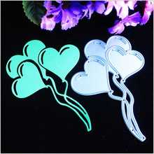 Love Heart Balloon Metal Cutting Dies For Scrapbooking Stencils DIY Album Paper Cards Decoration Embossing Folder Template