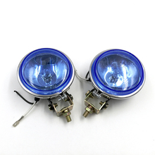 Pair 12v 55w/ 24v 70w halogen bulb Car Motorcycle truck spotlights Auxiliary headlights Offroad headlamp 4x4 ATV SUV fog light