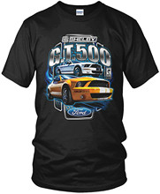 Hip Hop Novelty T Shirts Men's Brand Clothing Men's Mustang Shelby Gt 500 T-shirt