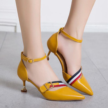 f0414516294 Spring   Autumn New Sexy Fashion Shallow Mouth Stiletto Women s Single  Shoes Pointed Toe Bright Color