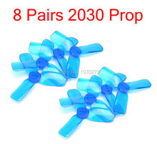 8 Pairs 2030 2 Inch 3 Blade Propeller Triblade Prop Red Green Blue For 1104 Motor RC 80mm Frame Quadcopter kit
